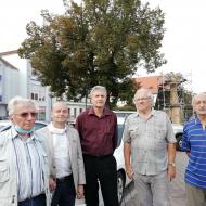 Vedoucí kandidát Zdeněk Štefek společně s Stanislavem Grospičem a Rudolfem Peltánem v Žebráku